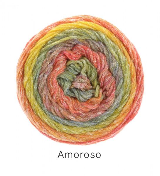 Lana Grossa Amoroso 008 Gelb/Orange/Apricot/Senf/Grau 100g