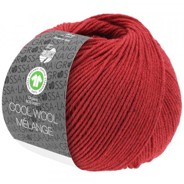 Lana Grossa Cool Wool 2000 Mélange GOTS 115 Rot meliert 50g