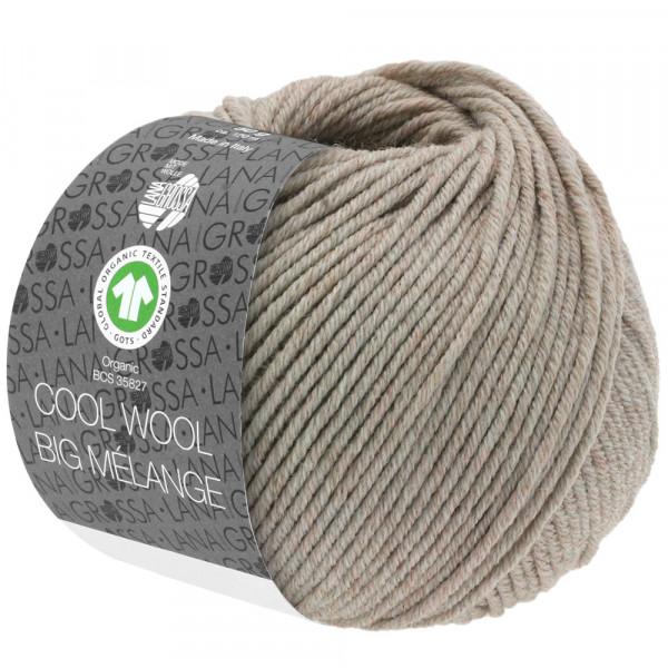 Lana Grossa Cool Wool Big Mélange GOTS 223 Beige Meliert 50g