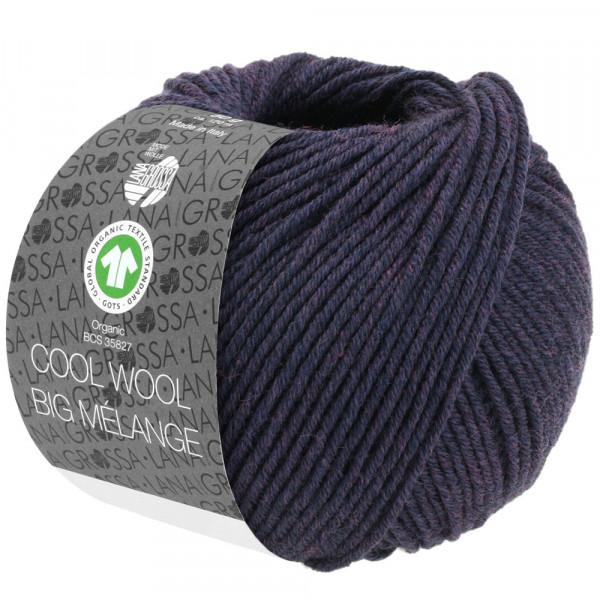 Lana Grossa Cool Wool Big Melange GOTS 202 Aubergine meliert 50g