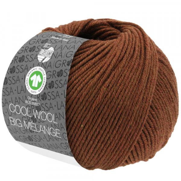 Lana Grossa Cool Wool Big Mélange GOTS 216 Braun Meliert 50g