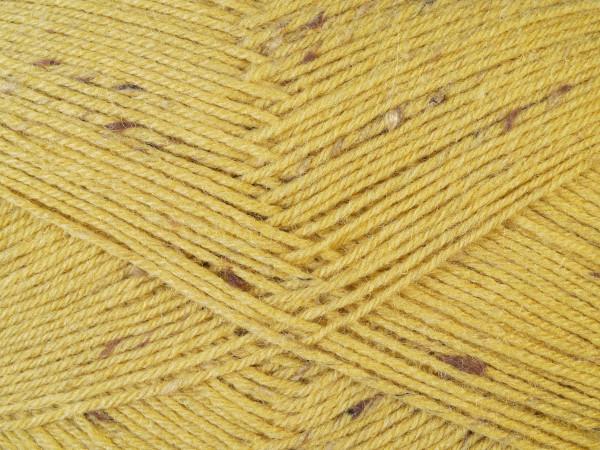 Lana Grossa Meilenweit 100 Tweed - Senfgelb