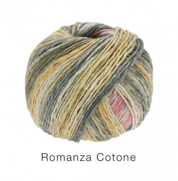 Lana Grossa Romanza Cotone 001 Rosa/Grau/Beige 50g