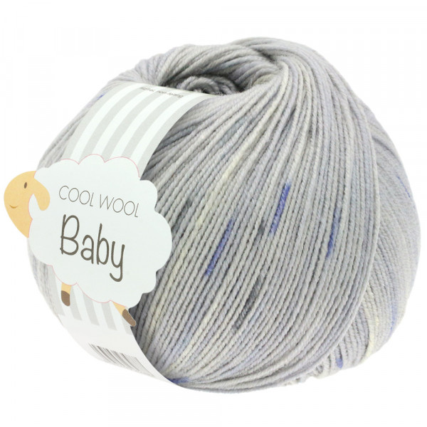 Lana Grossa Cool Wool Baby Print Punto 356 Hellgrau/Anthrazit/Jeans/Natur 50g
