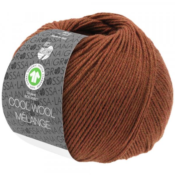 Lana Grossa Cool Wool 2000 Mélange GOTS 116 Rostbraun 50g