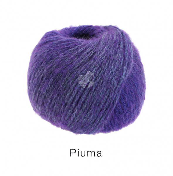 Lana Grossa Piuma 018 Violett/Blau-/Grauviolett 50g