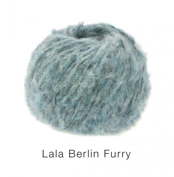 Lana Grossa Lala Berlin Furry 014 Graublau 50g