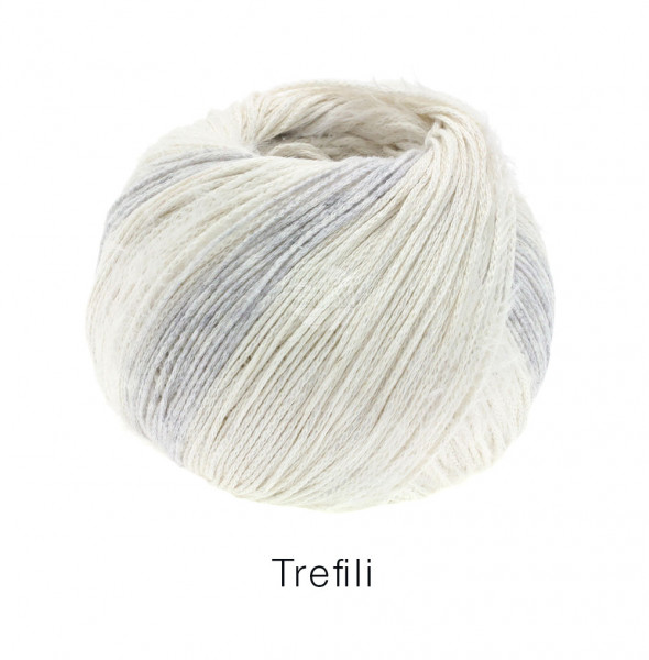 Lana Grossa Trefili 001 Ecru/Silbergrau 50g
