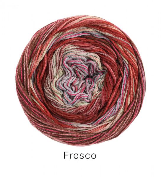 Lana Grossa Fresco 010 Natur/Pink/Terracotta/Rost/Brombeer/Flieder 100g