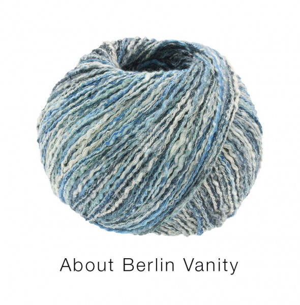 Lana Grossa About Berlin Vanity 011 Jeans/Graublau/Blau/Natur bunt 50 g