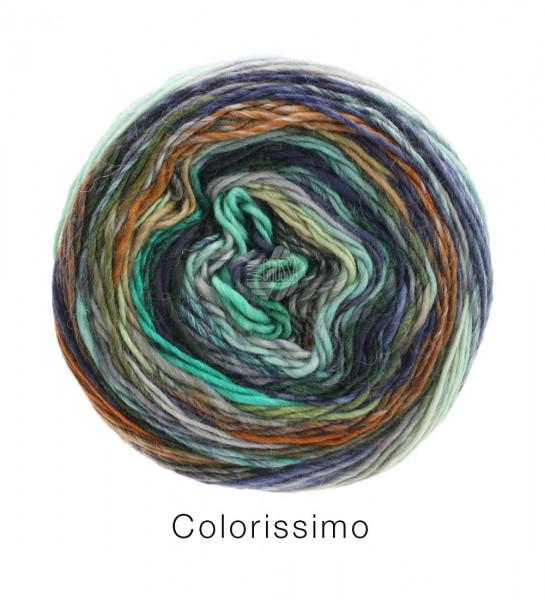 Lana Grossa Colorissimo 001 Mint/Hellblau/Aubergine/Hell-/Dunkelgrau/Braun 100g