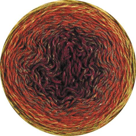 Lana Grossa Shades Of Tweed 903 Senf/Rost/Braun/Weinrot 200g