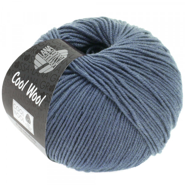Lana Grossa Cool Wool 2000 2037 Graublau 50g