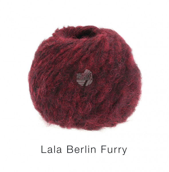 Lana Grossa lala BERLIN FURRY 0005 Dunkelrot 50g
