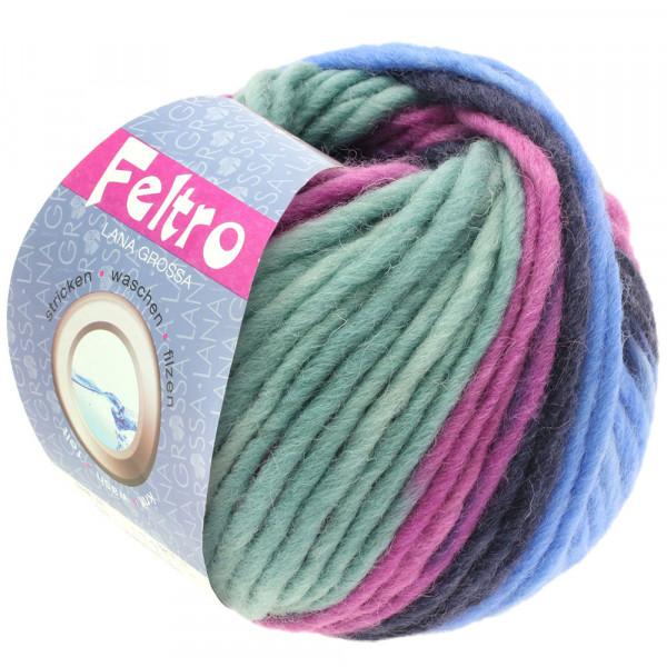 Lana Grossa FELTRO PRINT 0385 Nachtblau/Flieder/Hellblau/Mint 50g