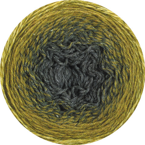 Lana Grossa Shades Of Tweed 905 Gelb/Senf/Ocker/Dunkelgrau 200g