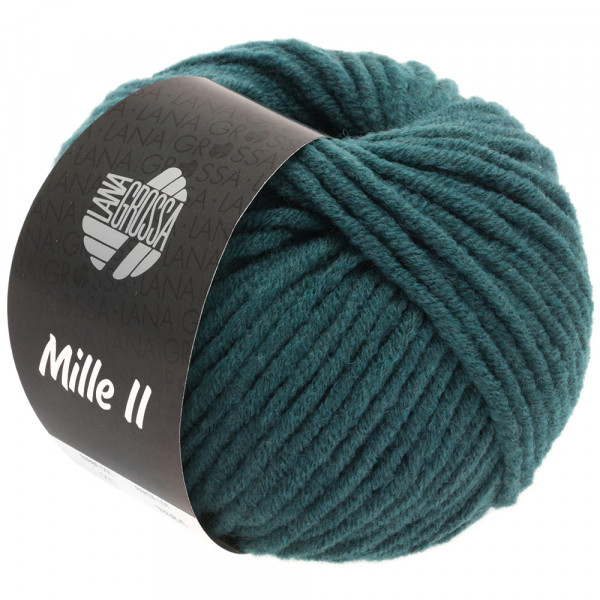 Lana Grossa Mille II 091 Grünblau 50g