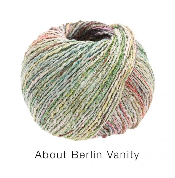 Lana Grossa About Berlin Vanity 004 Orange/Graugrün/Vanille/Rotbraun bunt 50g
