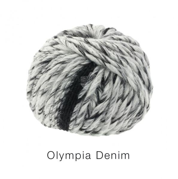 Lana Grossa OLYMPIA DENIM 0251 Schwarz/Weiß meliert 100g