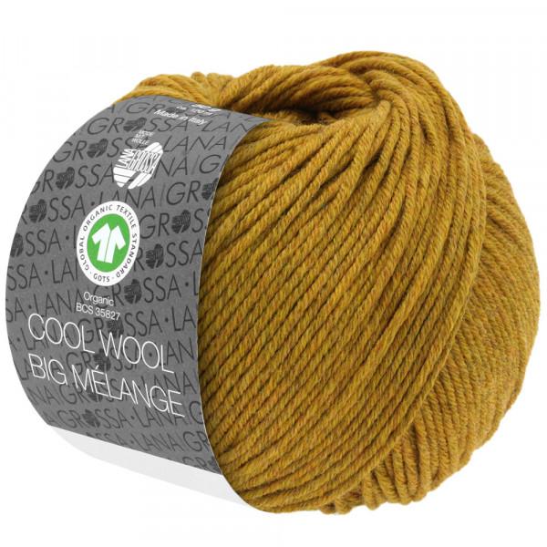 Lana Grossa Cool Wool Big Mélange GOTS 214 Bernstein Meliert 50g