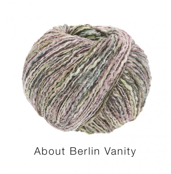 Lana Grossa About Berlin Vanity 006 Khaki/Brombeere/Heugrün/Natur bunt 50g