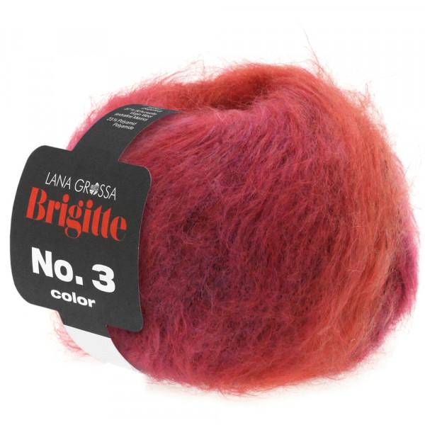 Lana Grossa Brigitte No.3 Color 101 Fuchsia/Orange/Pink 50g