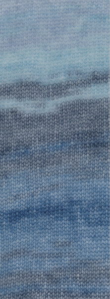 Lana Grossa Silkhair Print Landlust 360 Hellblau/Mint/Grau/Petrolblau 50g