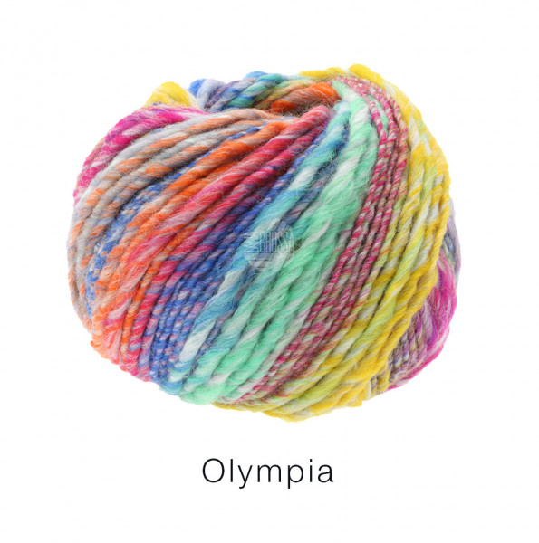 Lana Grossa OLYMPIA - Gelb/Orange/Mint/Zyklamn/Blau/Grau/Violett
