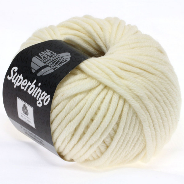 Lana Grossa Superbingo 016 Rohweiß 50g
