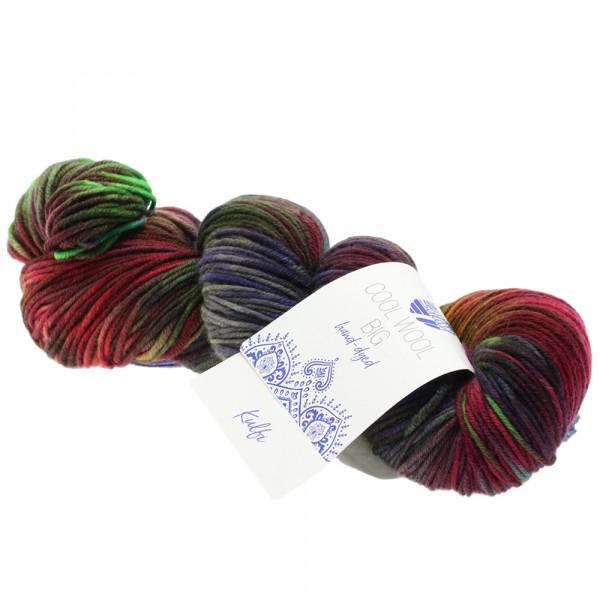 Lana Grossa Cool Wool Big hand-dyed 204 Oliv/Schlamm/Brombeer/Bordeaux/Petrol/Jade/Braun 100g