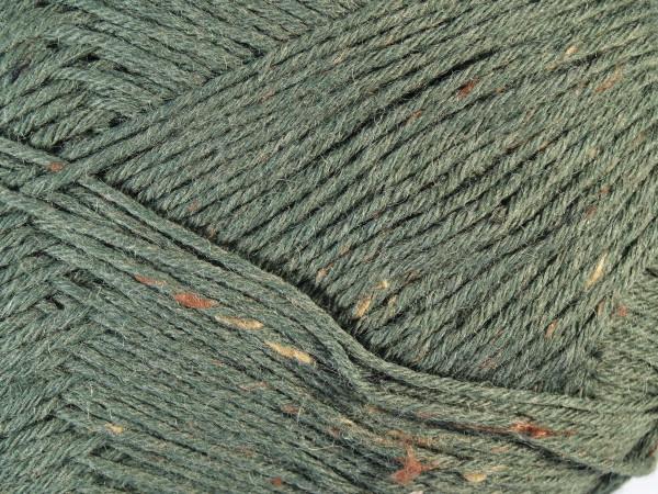 Lana Grossa Meilenweit 6-fach 150 Tweed 9240 Oliv 150g