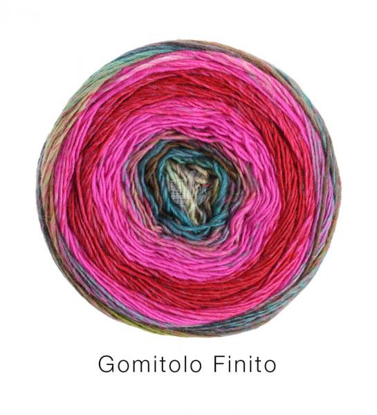 Lana Grossa Gomitolo Finito 552 Pink/Weinrot/Blau/Grüntürkis 200g