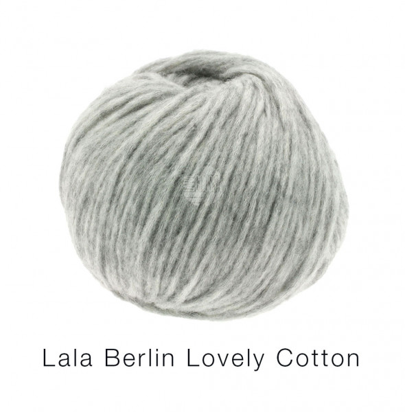 Lana Grossa Lala Berlin Lovely Cotton 005 Hellgrau 50g