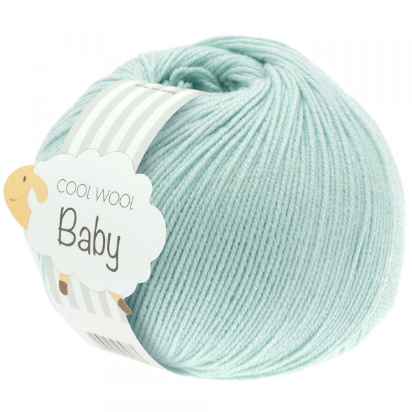 Lana Grossa Cool Wool Baby 257 Zartgrün 50g