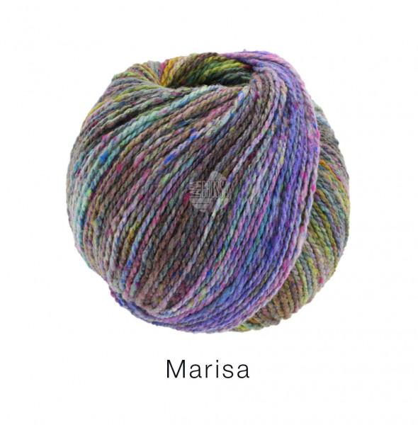 Lana Grossa Marisa 009 Fliederlila/Blauviolett/Hell-/Graugrün/Hellblau/Burgund 50g