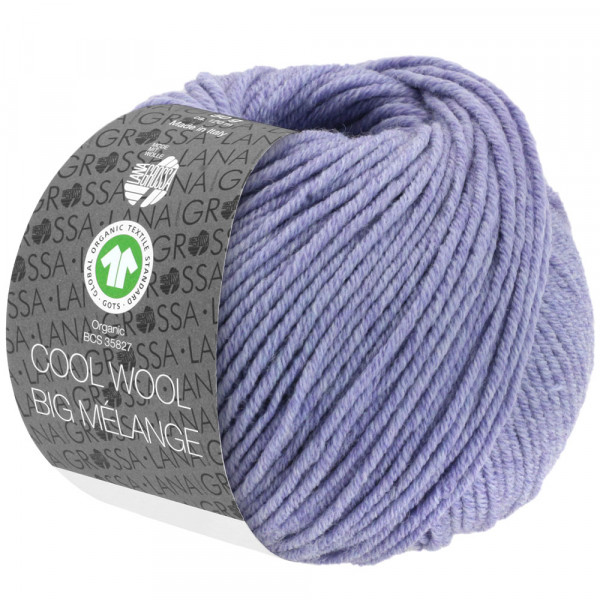 Lana Grossa Cool Wool Big Melange GOTS 201 Flieder Meliert 50g