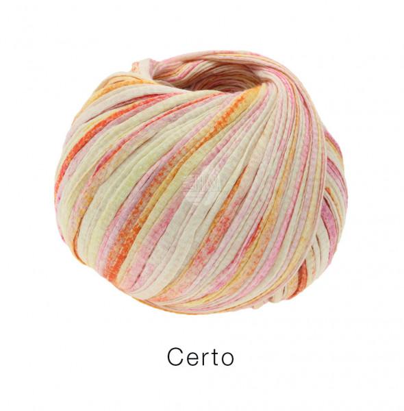 Lana Grossa Certo Print 101 Rosa/Gelborange/natur 50g