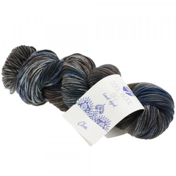 Lana Grossa Cool Wool Big hand-dyed 206 Petrol/Dunkelpetrol/Mint/Graublau/Jeans/Anthrazit/Beige 100g