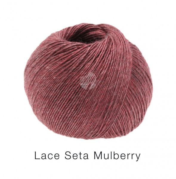 Lana Grossa Lace Seta Mulberry 006 Burgund 50g