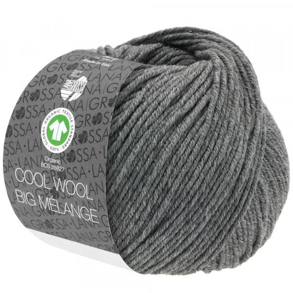 Lana Grossa Cool Wool Big Mélange GOTS 221 Dunkelgrau Meliert 50g