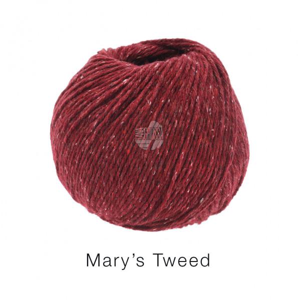 Lana Grossa Mary's Tweed 005 Dunkelrot 50g