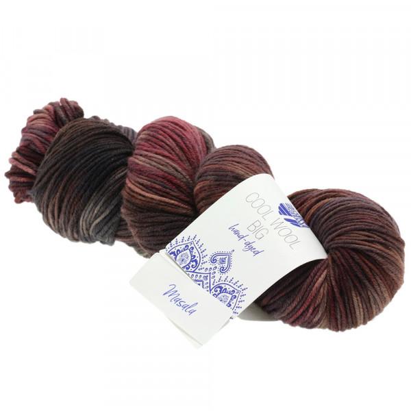 Lana Grossa Cool Wool Big hand-dyed 205 Terracotta/Nougat/Brombeer/Grau/Anthrazit/Mauve 100g