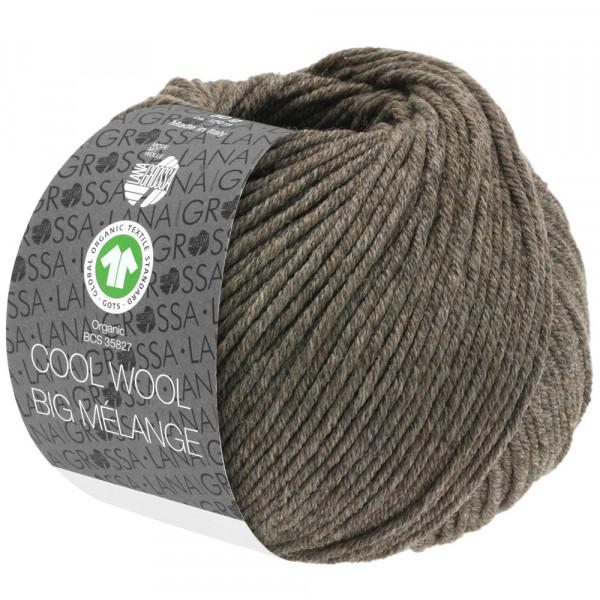 Lana Grossa Cool Wool Big Mélange GOTS 224 Graubraun Meliert 50g
