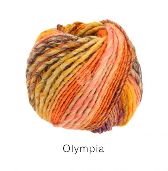 Lana Grossa Olympia - Oliv/Khaki/Hellgrün/Sandgelb/Schwarzbraun/Beige/Orange
