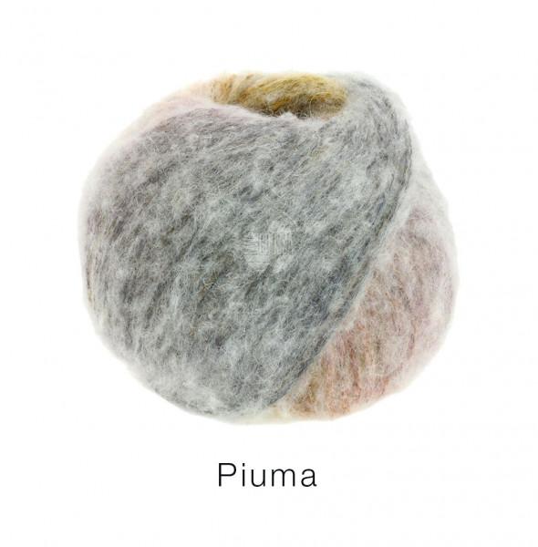 Lana Grossa Piuma 014 Dunkelgrau/Mint/Taupe 50g