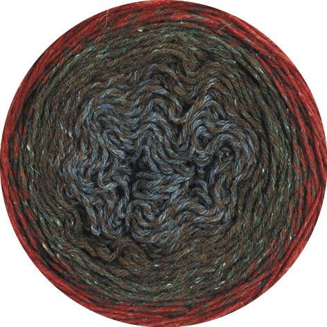 Lana Grossa Shades Of Tweed - Dunkelrot/Braun/Anthrazit