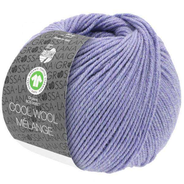 Lana Grossa Cool Wool 2000 Mélange GOTS 101 Flieder Meliert 50g