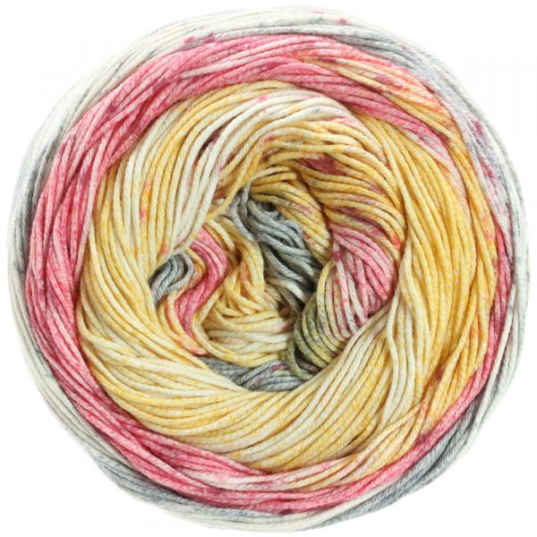Lana Grossa Aruba 001 Grau/Pink/Gelb/Ecru 100g