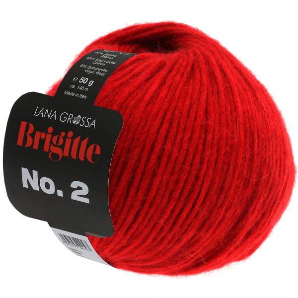 Lana Grossa Brigitte No.2 009 Rot 50g