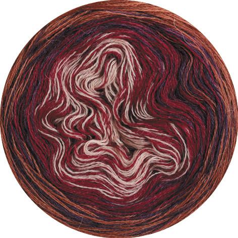 Lana Grossa Shades Of Alpaca Silk 317 Zimt/Lila/Weinrot/Rosa 200g